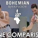 『ボヘミアン・ラプソディ(Bohemian Rhapsody)』のライブエイドがどれぐらいの再現度か良く分かる比較映像🎥